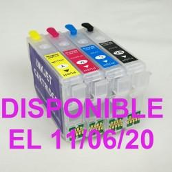 EPSON T603 y T603XL CARTUCHOS RECARGABLES AUTORESETEABLES