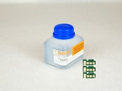 SAMSUNG CLT-C4092S KIT 3 RECARGAS TONER BOTELLA 90g COLOR CYAN + 3 CHIPS 1.000 IMPRESIONES