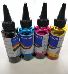 PACK DE TINTAS PARA RECARGA BROTHER LC3211 LC3213 LC3217 LC3219 LC223 LC123 LC1240 100ml 4 COLORES