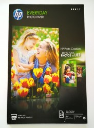 PAPEL GLOSSY HP TAMAÑO A4, PAQUETE 25 HOJAS, 200g - PAPEL FOTO GLOSSY HP TAMAÑO A4, PAQUETE 25 HOJAS, 200g