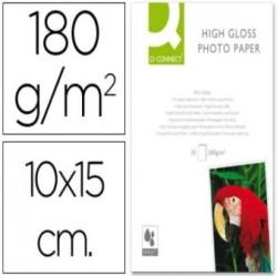 PAPEL FOTO GLOSSY Q-CONNECT 10cm X 15cm DE 180g PAQUETE 25 HOJAS