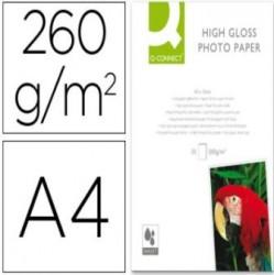 PAPEL FOTO GLOSSY DIN-A4 ALTA CALIDAD DIGITAL PHOTO DE 260g PAQUETE 20 HOJAS  Q-CONNECT